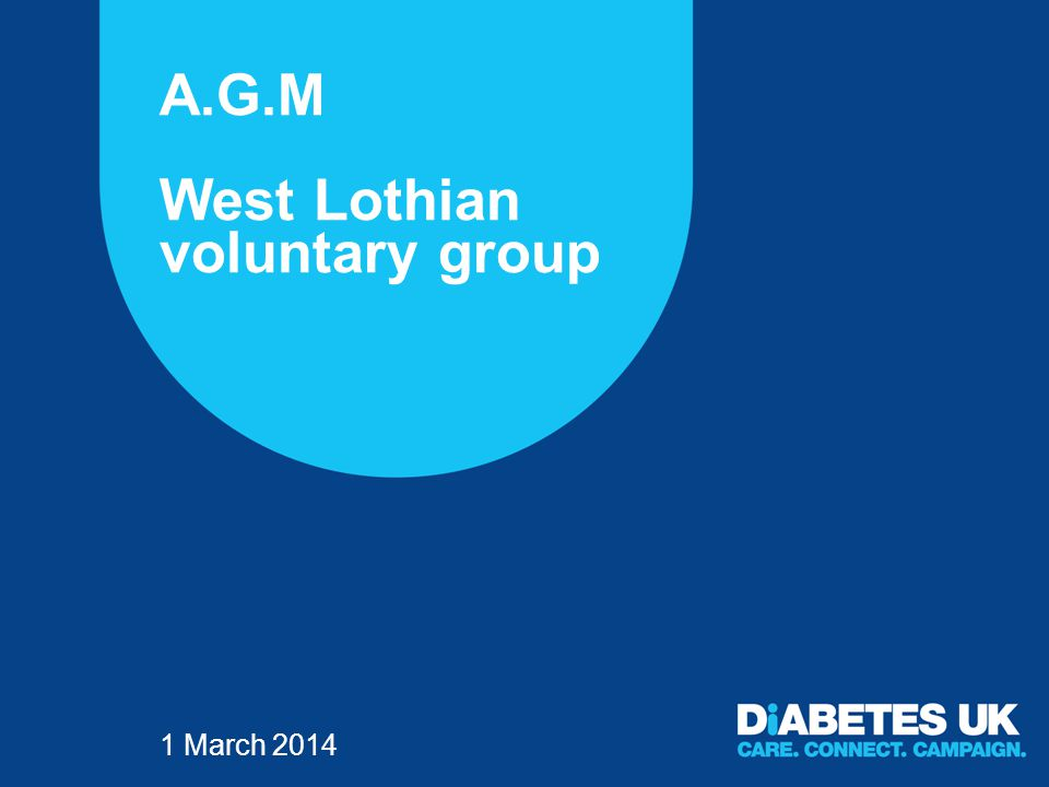 A.G.M West Lothian voluntary group 1 March 2014