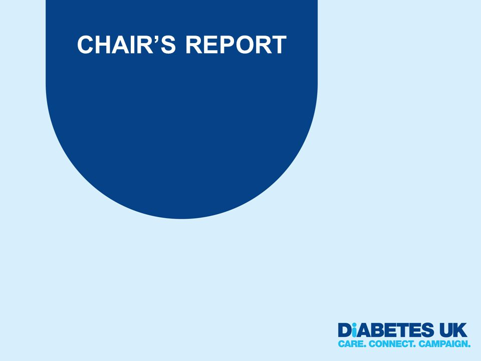 CHAIRS REPORT