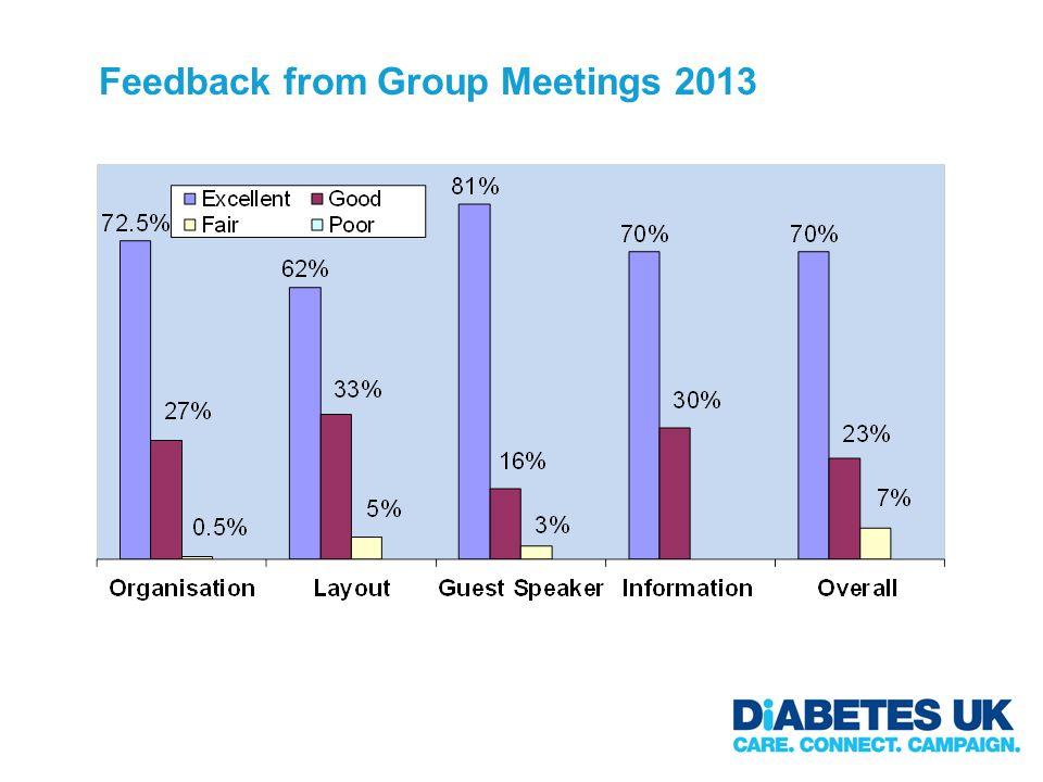 Feedback from Group Meetings 2013