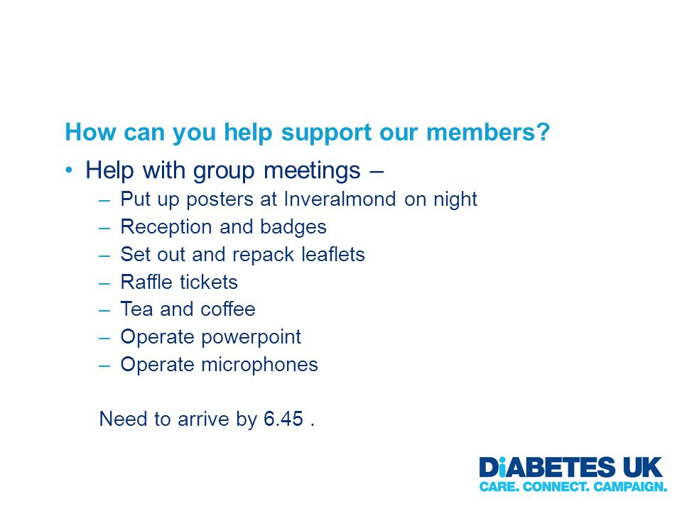 How can you help support our members.