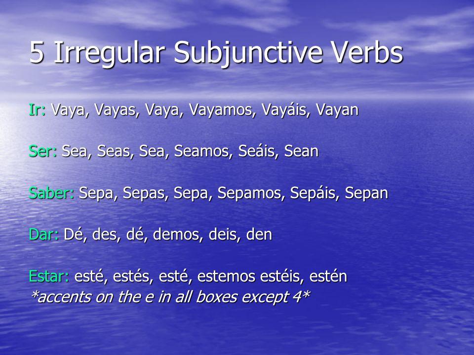 El Subjuntivo- WEIRDO Weddings In order to use the subjunctive tense we must have all 3 things.
