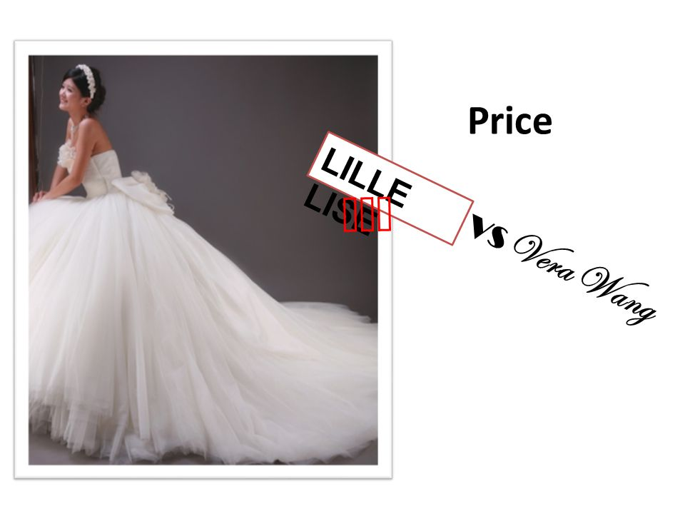 Price LILLE LISE won VS Vera Wang