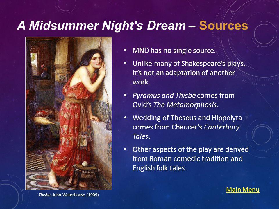 A Midsummer Night s Dream - Quizzes Act IAct IIAct IIIAct IVAct V Main Menu Main Menu A Midsummer Nights Dream, Edwin Landseer (1848)
