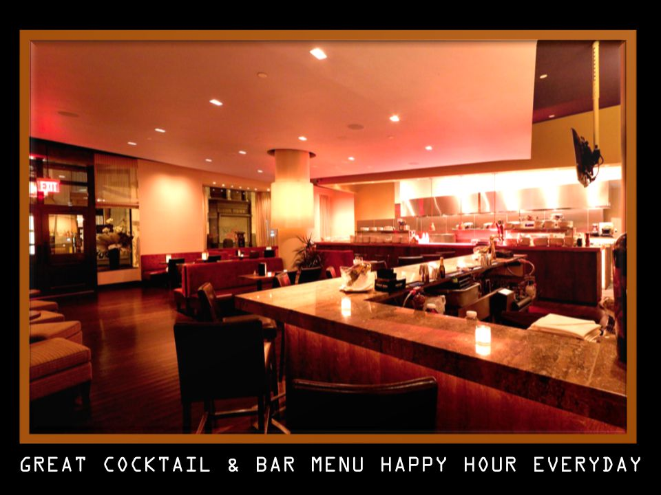 GREAT COCKTAIL & BAR MENU HAPPY HOUR EVERYDAY
