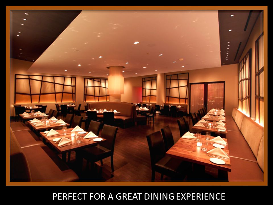 PERFECT FOR A GREAT DINING EXPERIENCE
