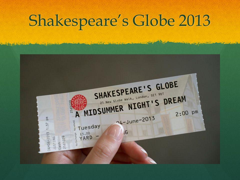 Shakespeares Globe 2013