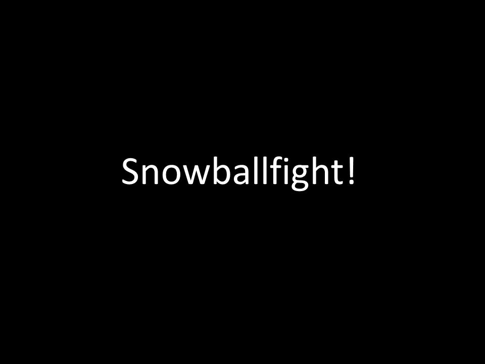 Snowballfight!