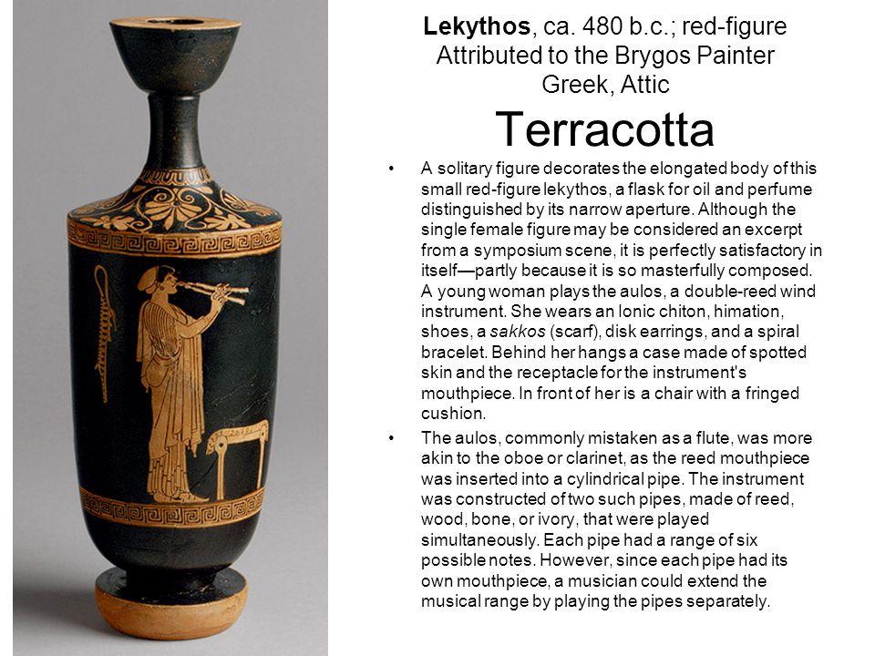 Lekythos (oil flask) with a maenad