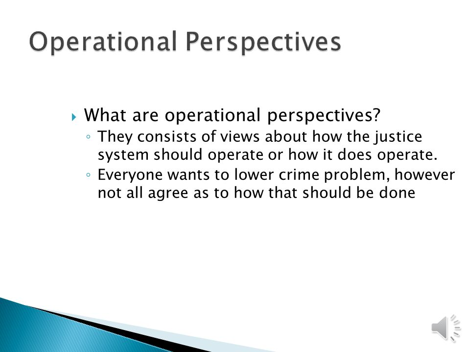 Crime Control Perspectives