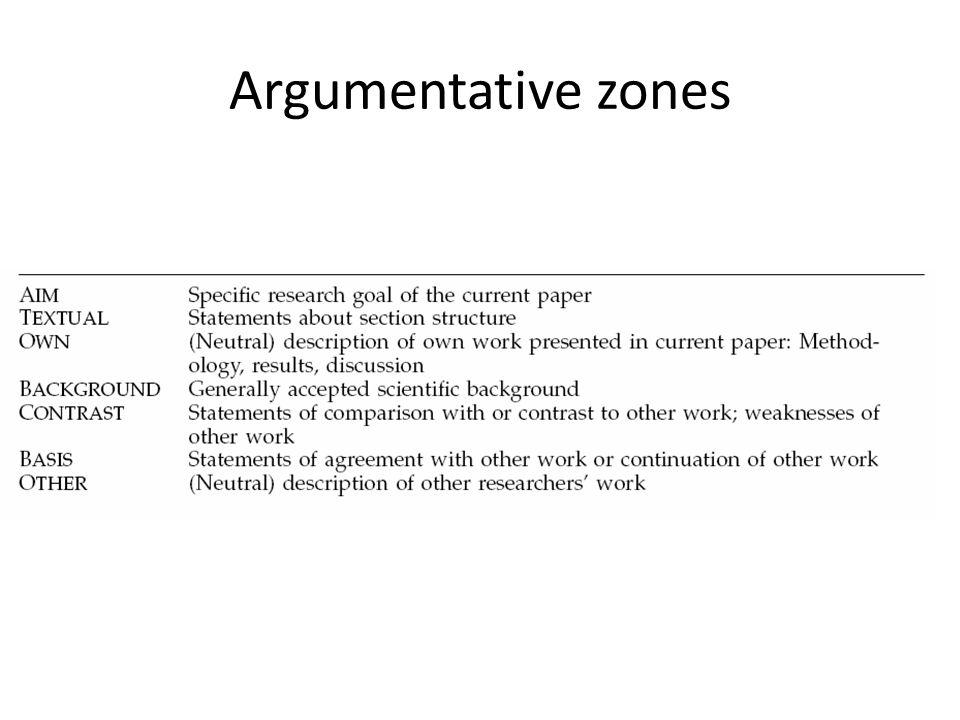 Argumentative zones