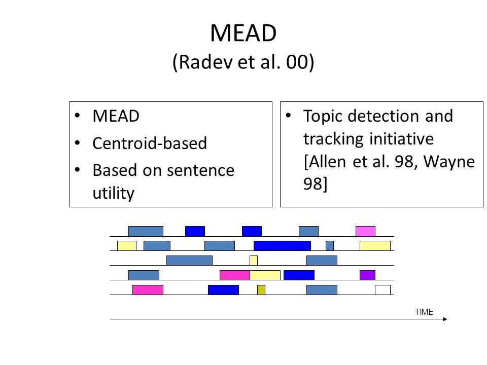 MEAD (Radev et al.