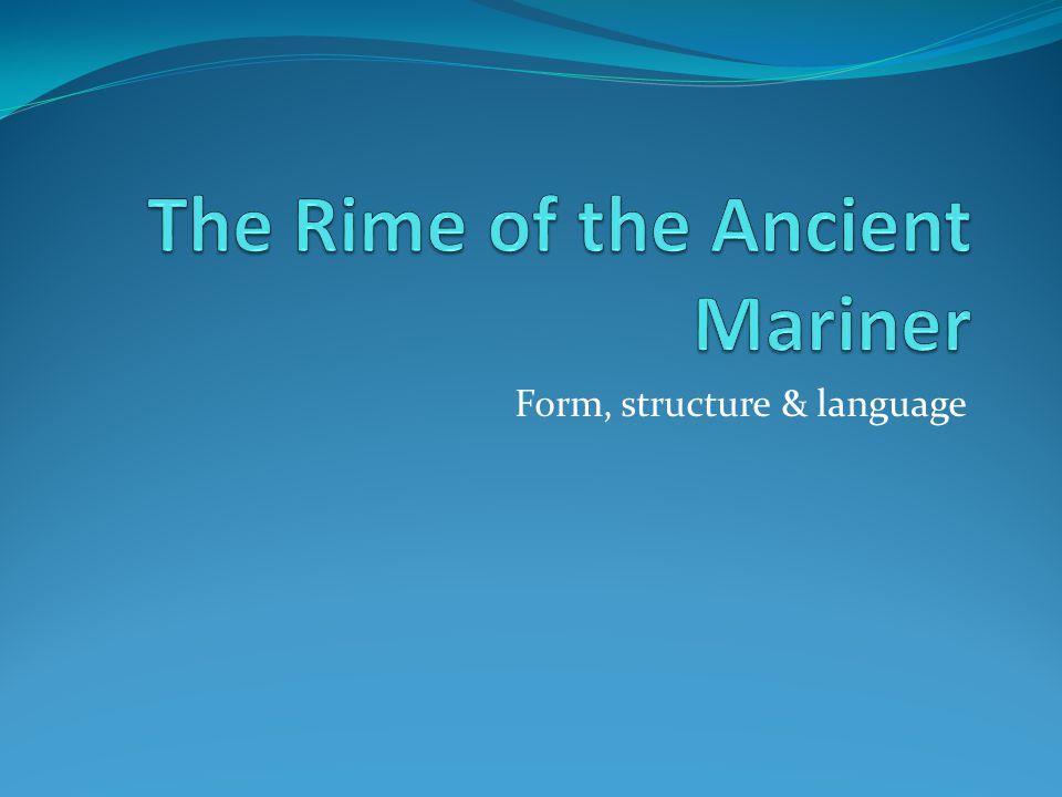 Form, structure & language