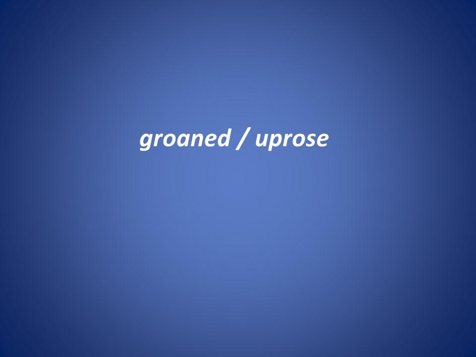 groaned / uprose