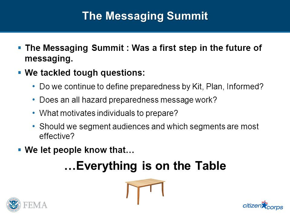 The Messaging Summit The Messaging Summit : Was a first step in the future of messaging.