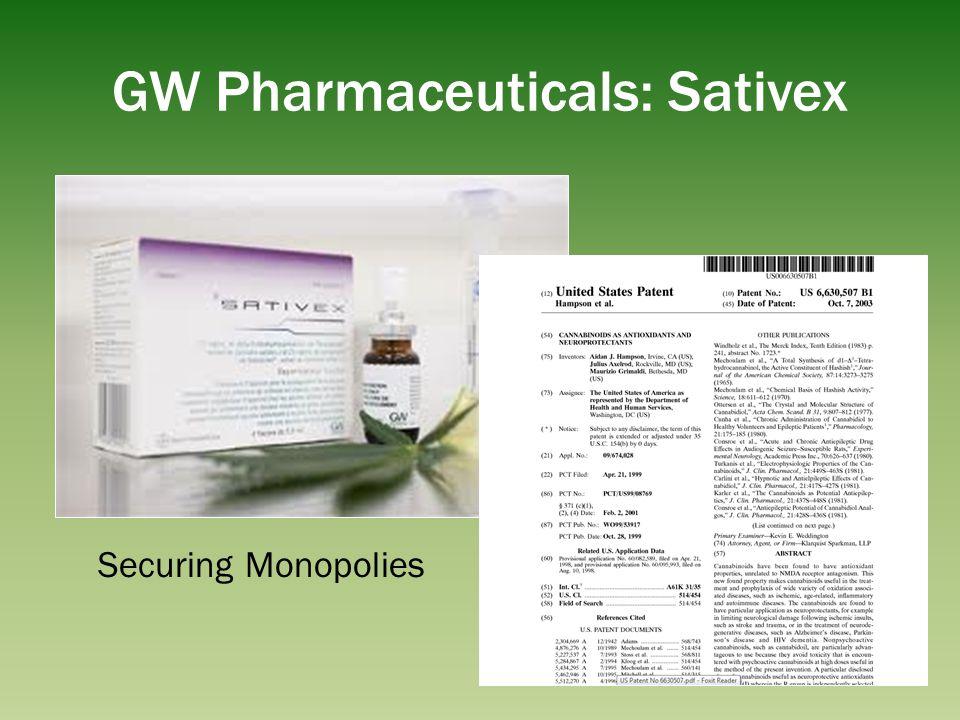 GW Pharmaceuticals: Sativex Securing Monopolies