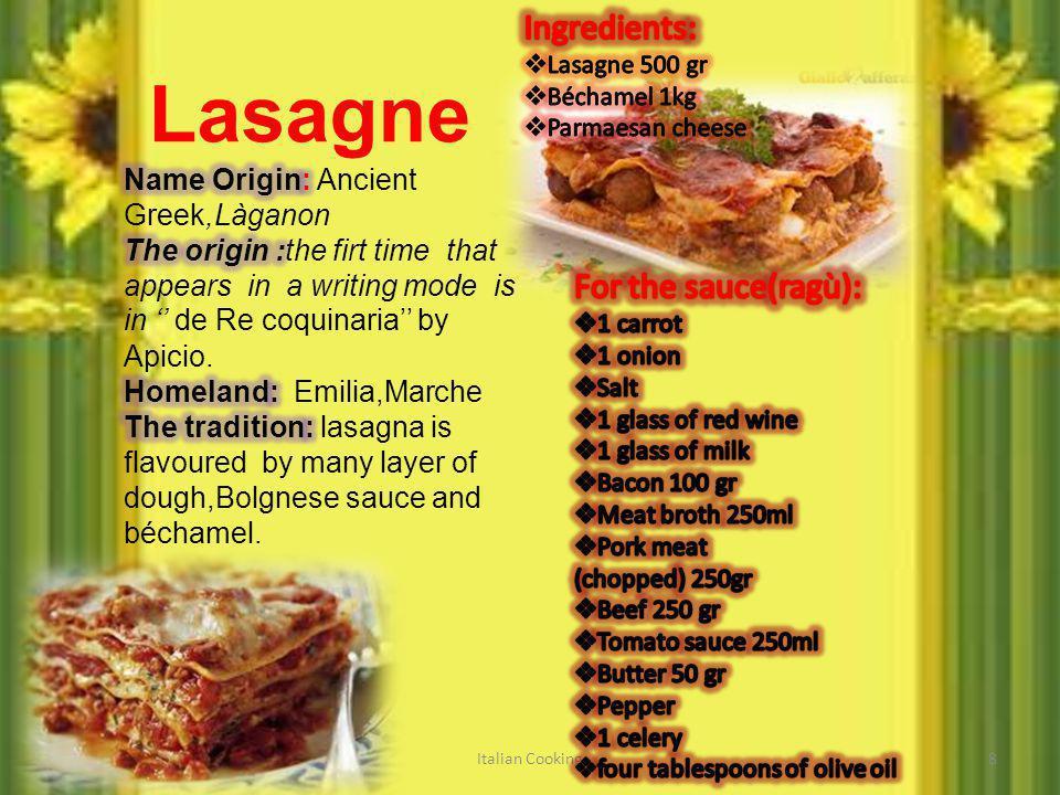 Lasagne Italian Cooking8