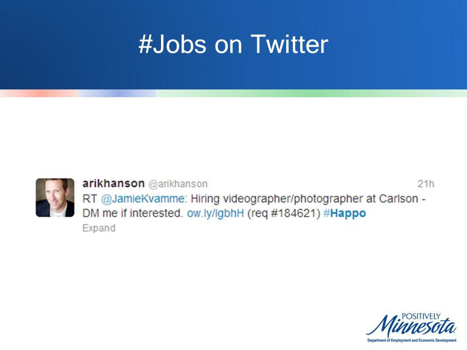 #Jobs on Twitter