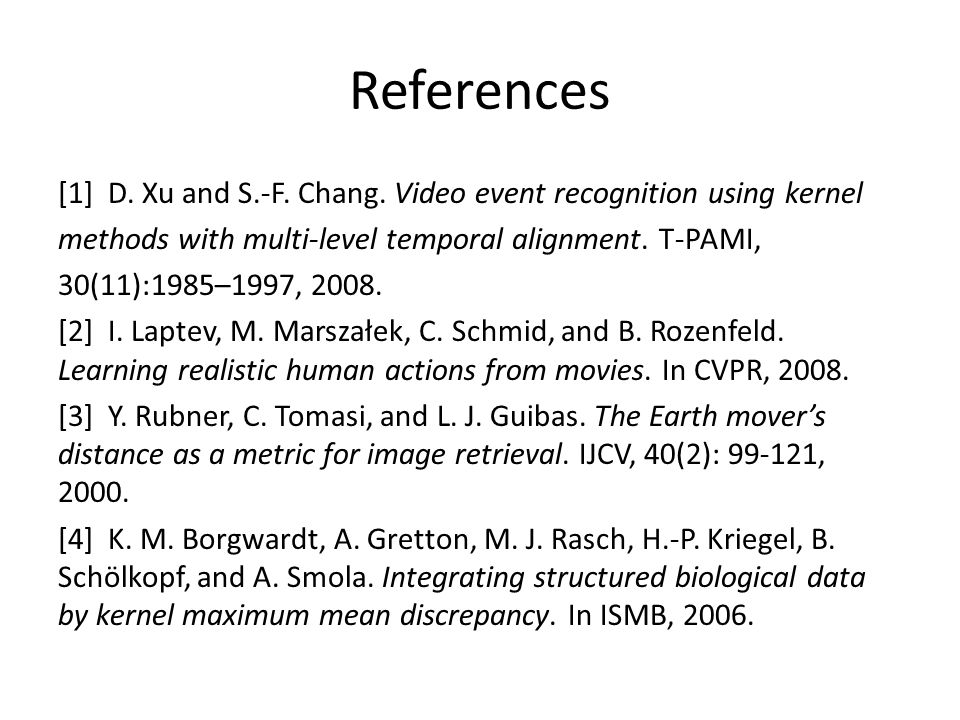 References [1] D.Xu and S.-F. Chang.