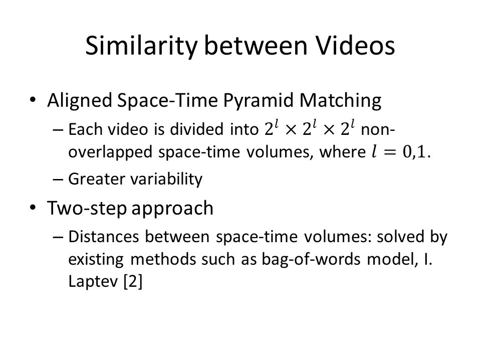 Similarity between Videos