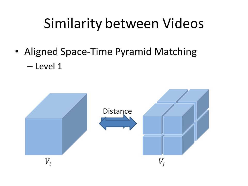 Aligned Space-Time Pyramid Matching – Level 1 Distance