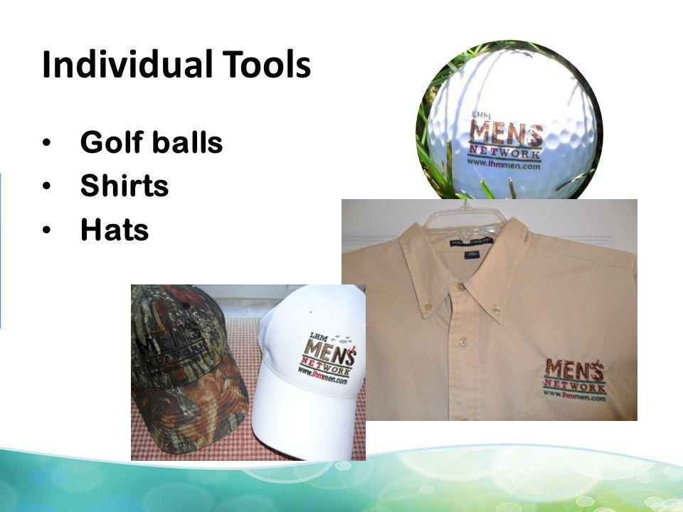 Individual Tools Golf balls Shirts Hats