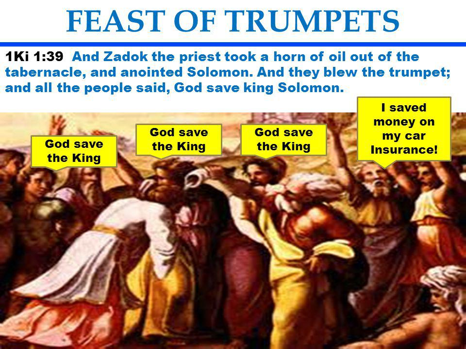 The Feast of Trumpets has great significance in the seventh Month FEAST OF TRUMPETS Passover took place in the first month- Number one is the number of beginning of commencement.
