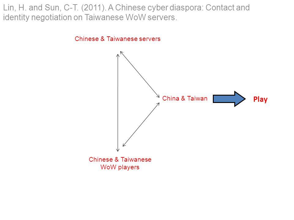 Chinese & Taiwanese servers Chinese & Taiwanese WoW players China & Taiwan Play Lin, H.