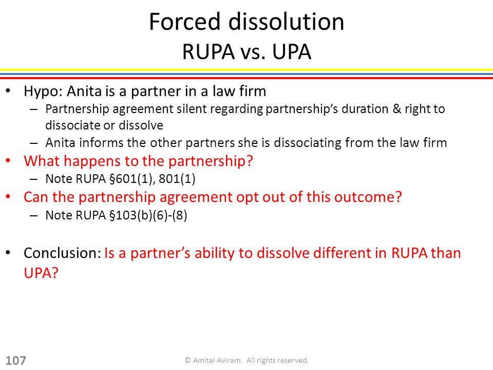 Forced dissolution RUPA vs.