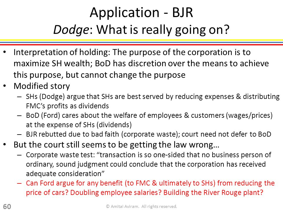 Application - BJR Dodge: What is really going on.