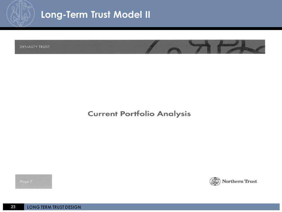 23 LONG TERM TRUST DESIGN Click here 23 LONG TERM TRUST DESIGN A C C E S S. E X P E R T I S E. S E R V I C E. Long-Term Trust Model II
