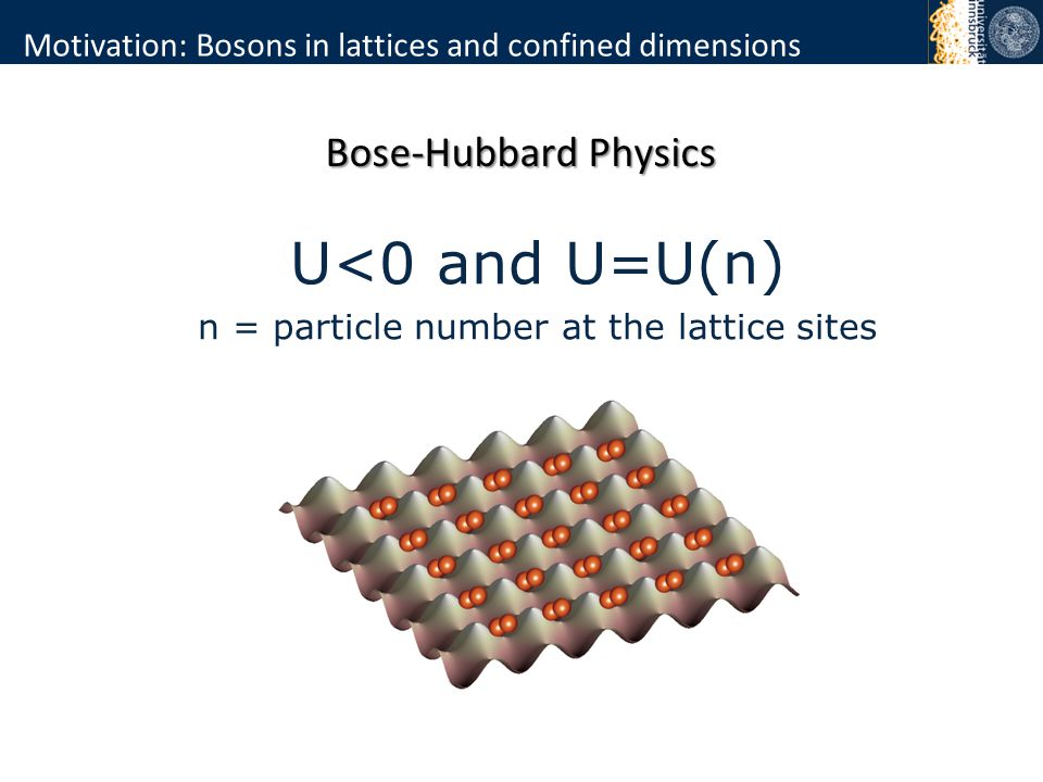 Beyond the standard BH model Approximations Bloch bands Interaction potential Invalid for strong interactions Three particles 3x two-particle interactions Effective interactions Johnson et al.