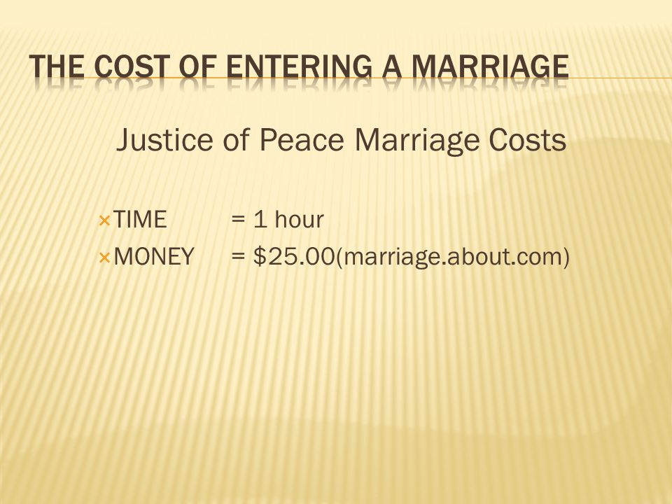 Divorce Proceedings One year (vs. 1 hour )= 365 $1,500(vs. $25) = 60 Do we multiply 60 x 365