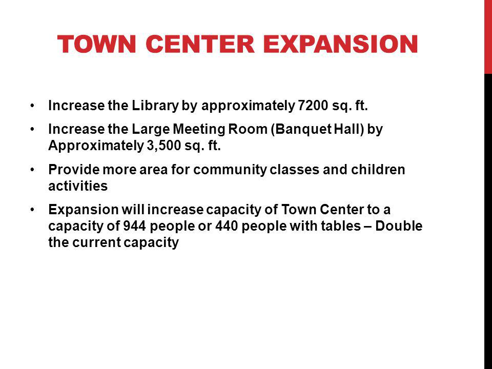 Increase the Library by approximately 7200 sq. ft.