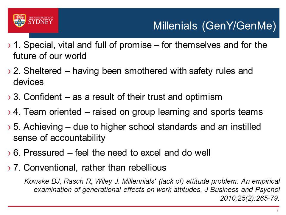 Millenials (GenY/GenMe) 1.