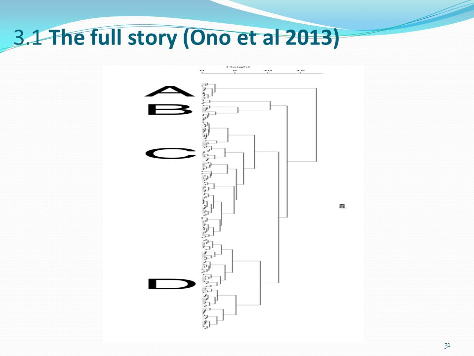 3.1 The full story (Ono et al 2013) 31