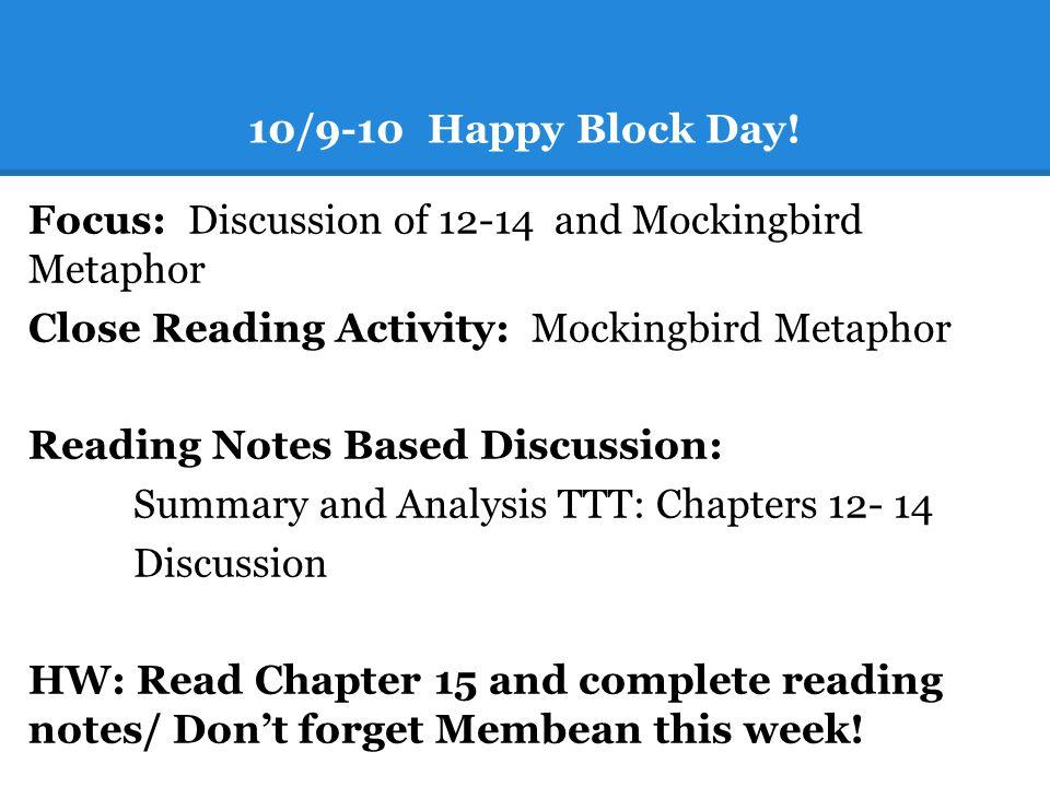 10/9-10 Happy Block Day.