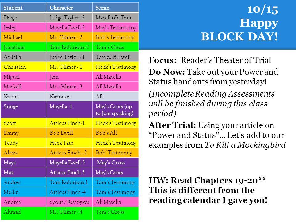 10/15 Happy BLOCK DAY.