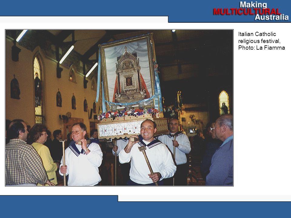 Italian Catholic religious festival, Photo: La Fiamma
