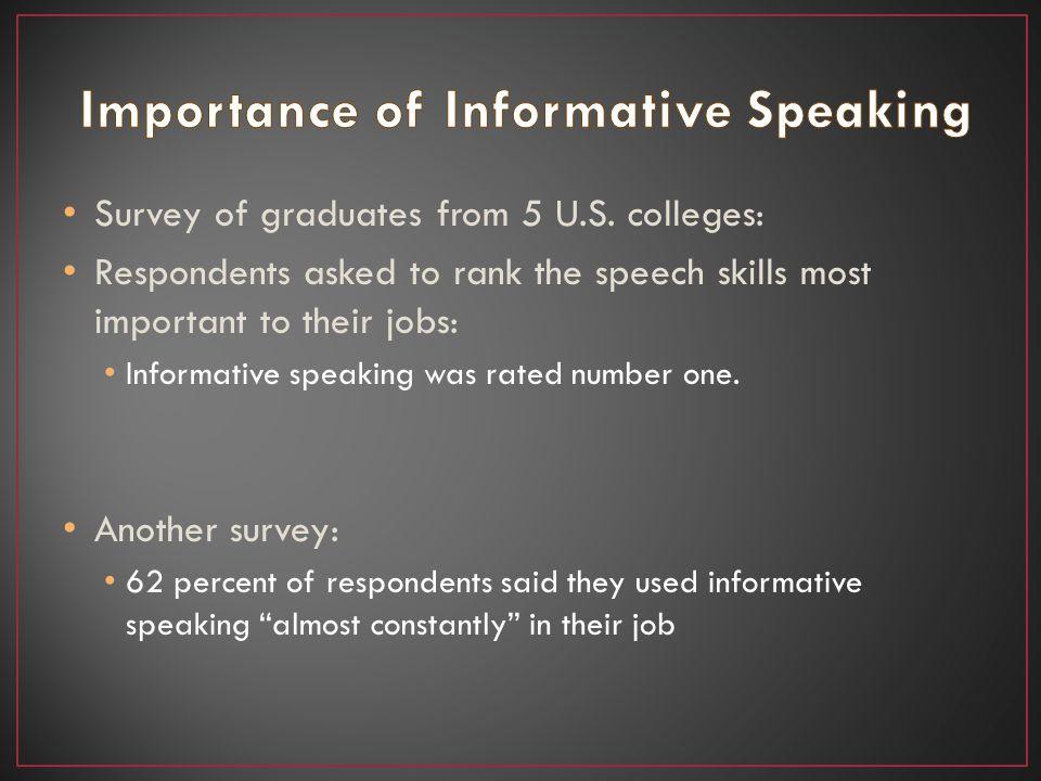 Survey of graduates from 5 U.S.