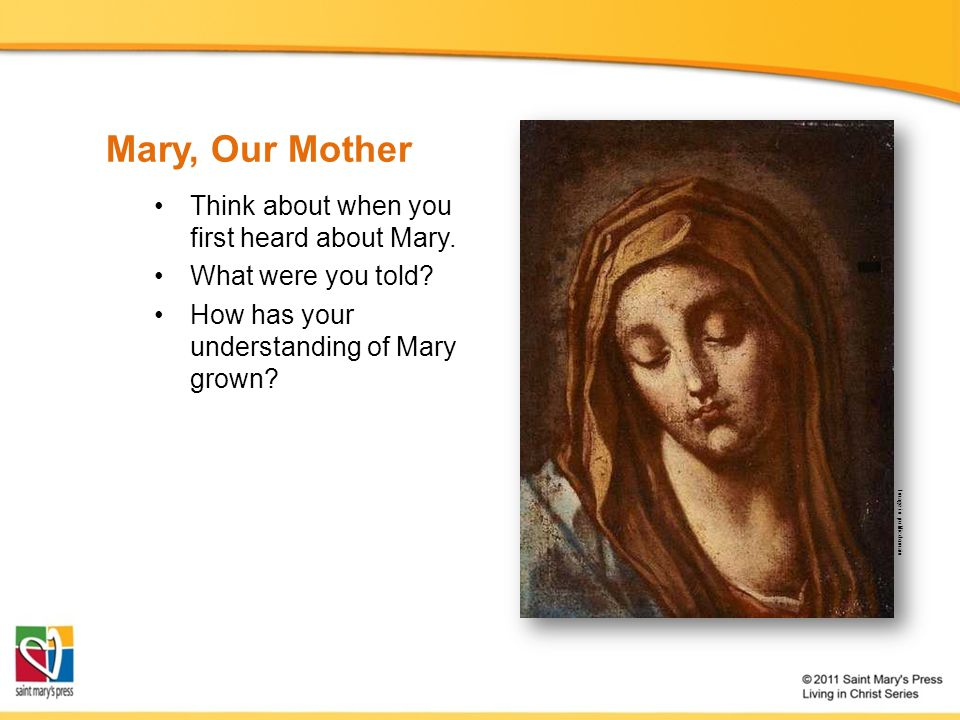 Mary, Our Mother Why should we not all together look to her as our common Mother who prays for the unity of Gods family and who precedes us all at the head of the long line of witnesses of faith in the one Lord.