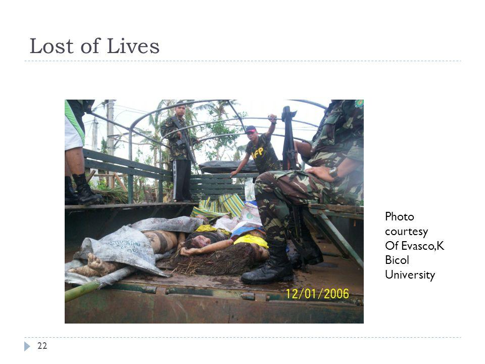 Lost of Lives Photo courtesy Of Evasco,K Bicol University 22