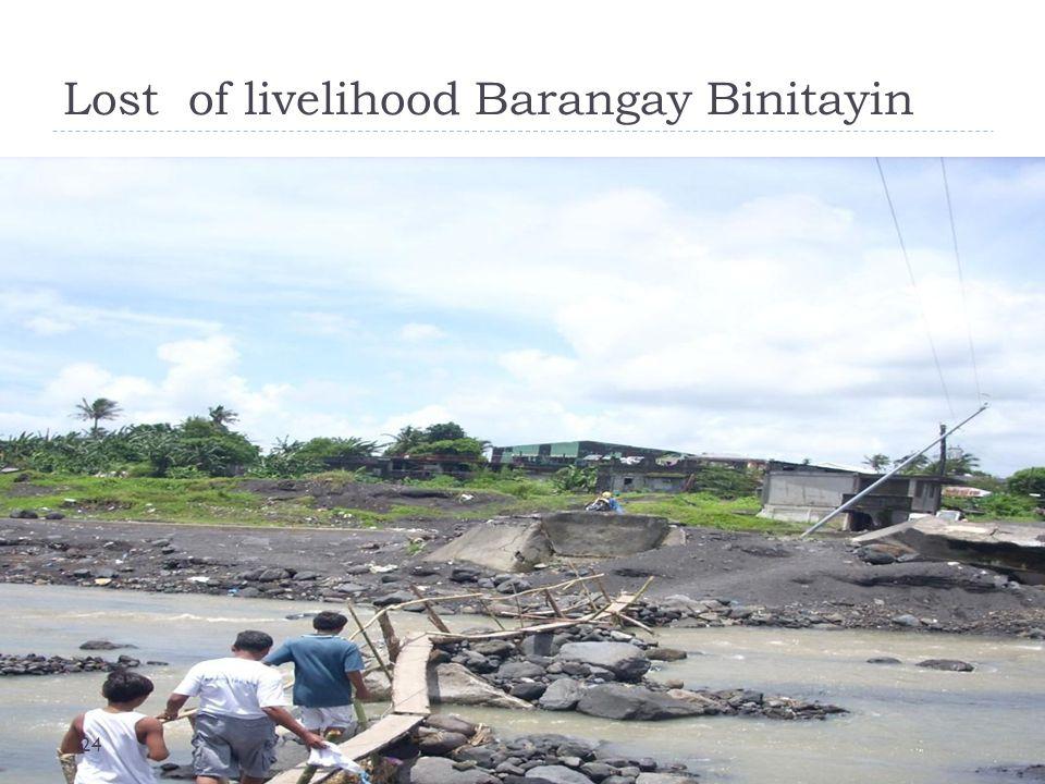 Lost of livelihood Barangay Binitayin 24