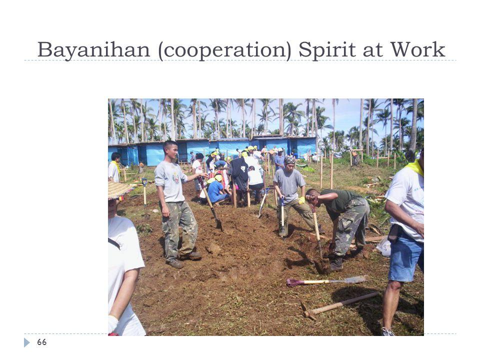 Bayanihan (cooperation) Spirit at Work 66