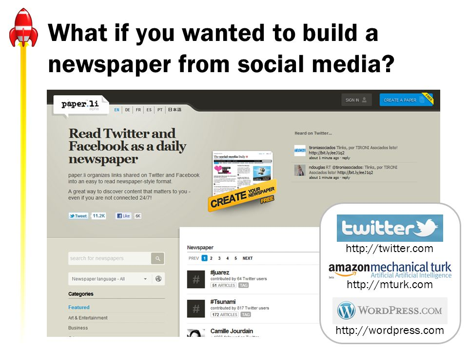 What if you wanted to build a newspaper from social media.