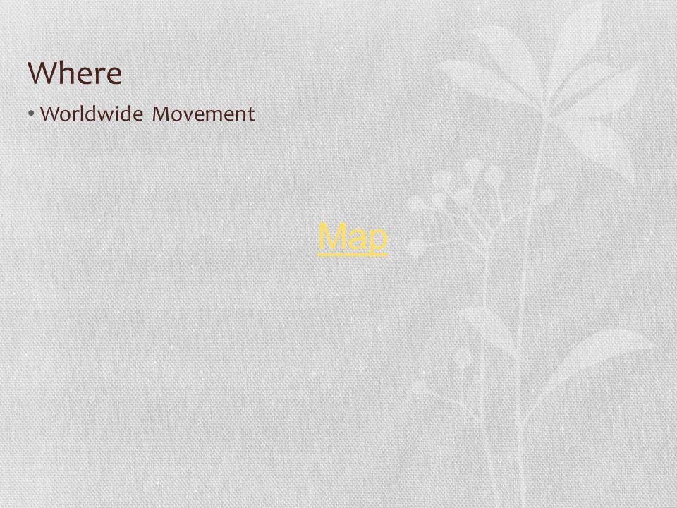 Where Worldwide Movement Map