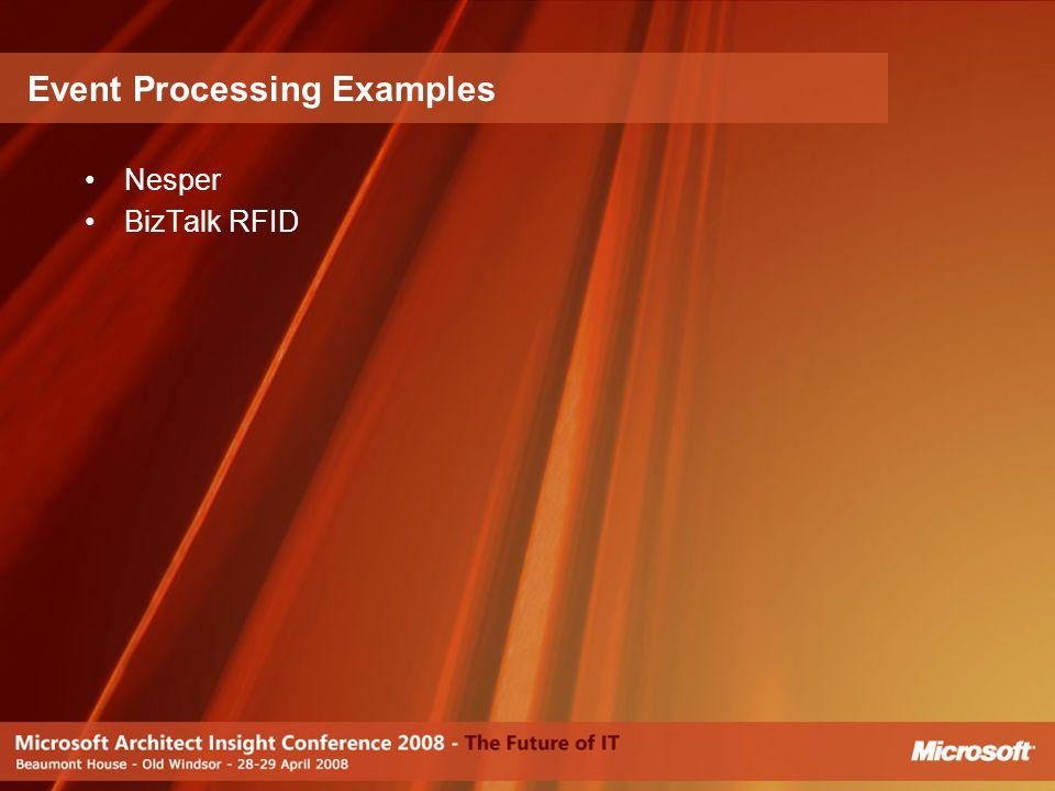 Nesper BizTalk RFID Event Processing Examples