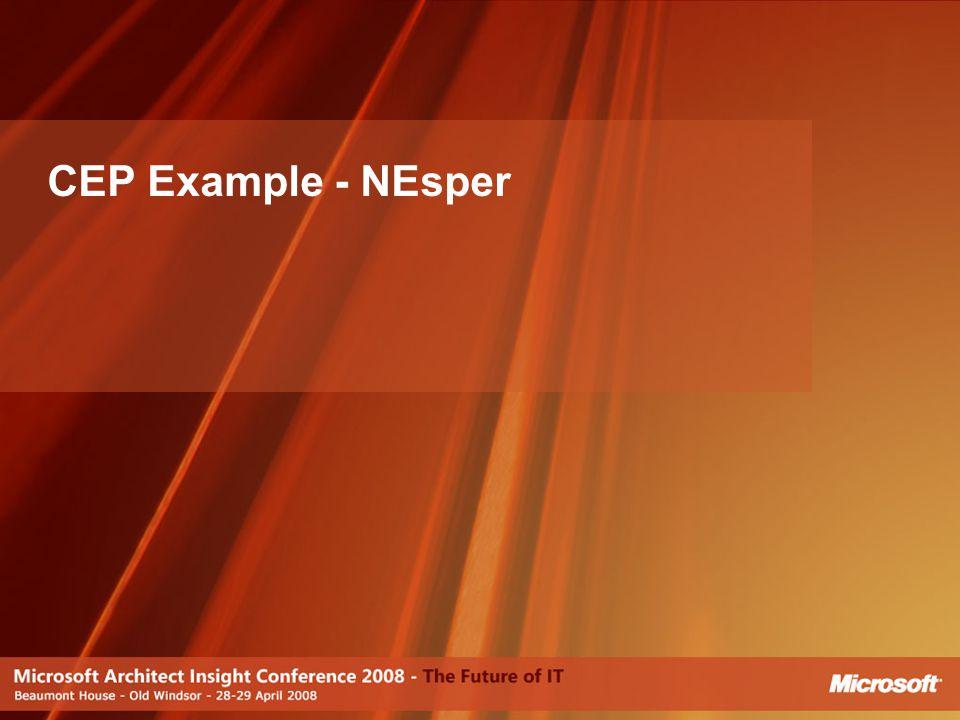 CEP Example - NEsper