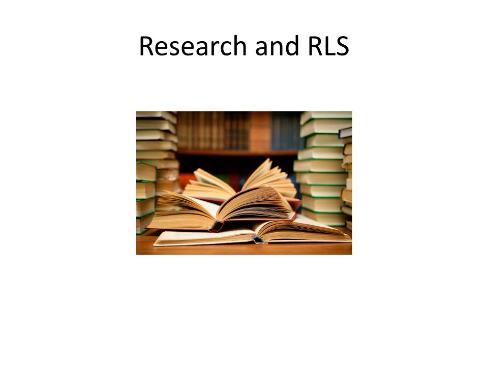 Research and RLS