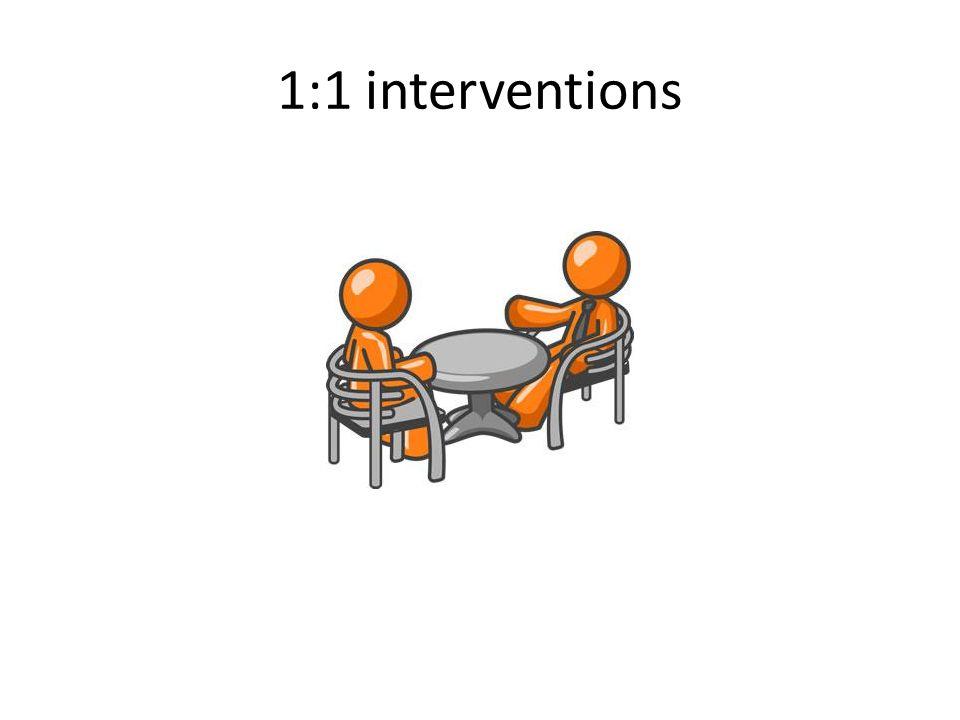 1:1 interventions