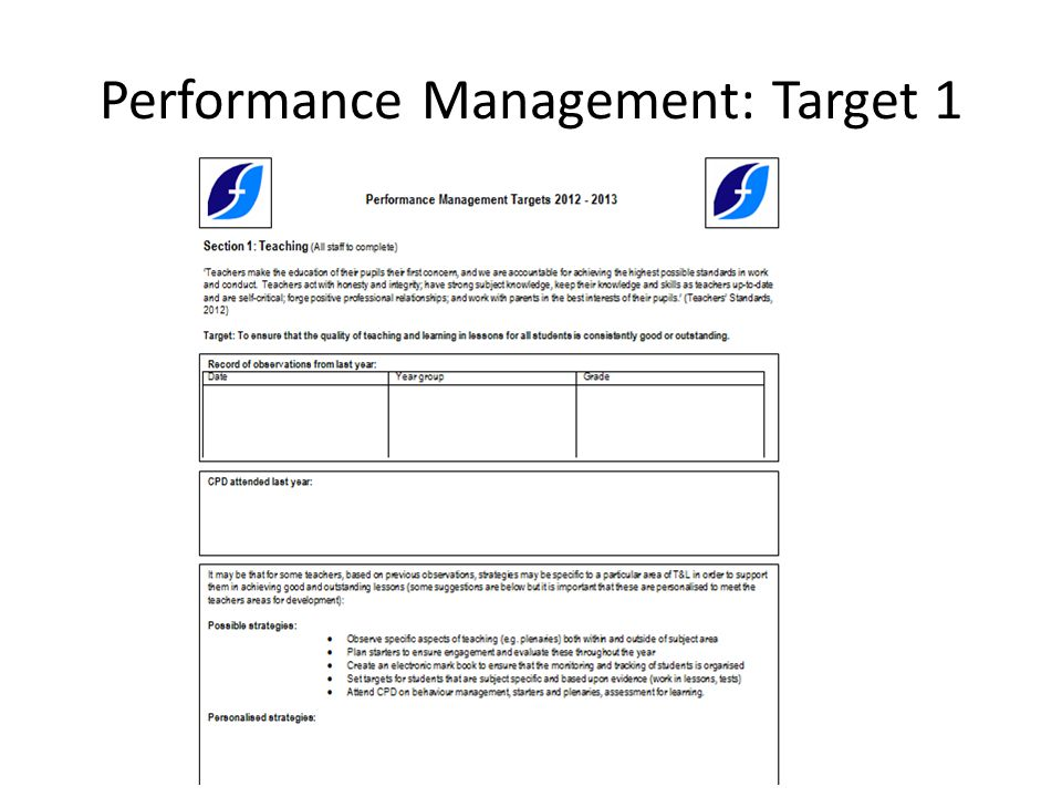 Performance Management: Target 1